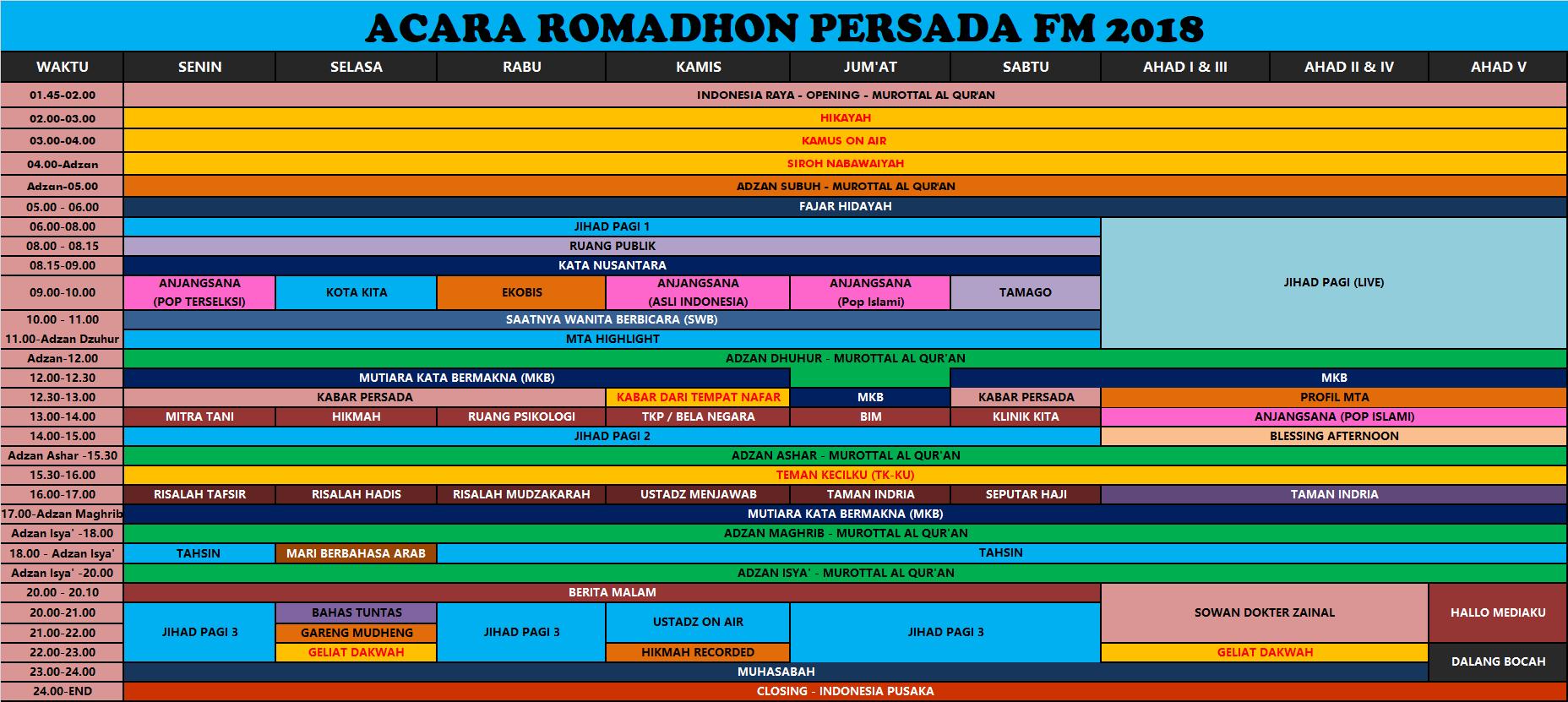 jadwal radio romadhon